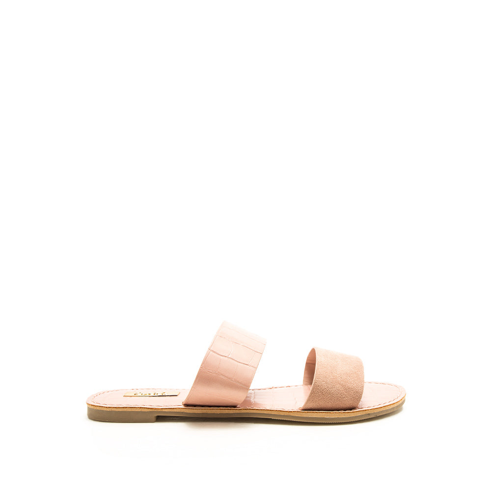 Athena-1407AX Blush Double Band Sandals