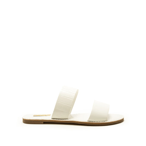 Athena-1407AX White Double Band Sandals