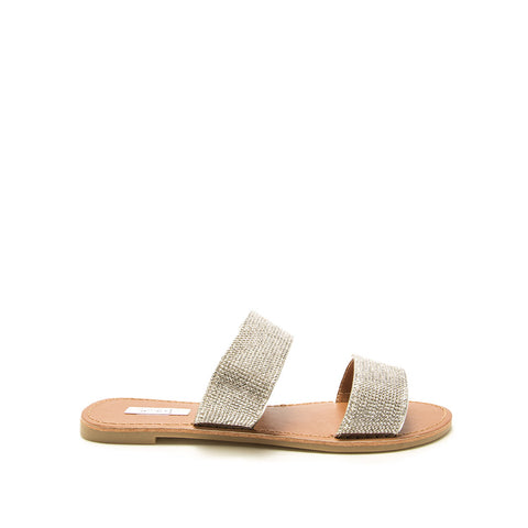 Athena-1407XX Silver Metallic Double Band Slides