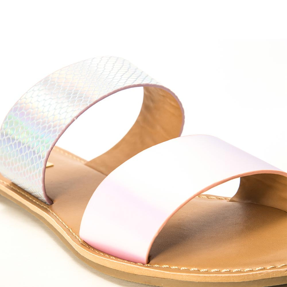 Athena-1533A Lavender Iridescent Double Band Slides