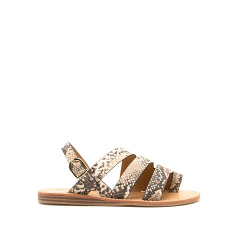 039ed2fa05 Autumn-07 Beige Brown Snake Strappy Toe Ring Sandals