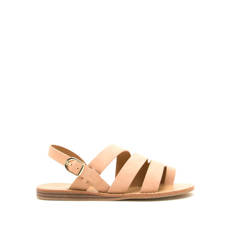 Autumn-07 Blush Strappy Toe Ring Sandals