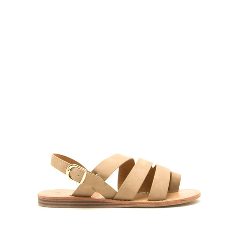 Autumn-07 Light Taupe Strappy Toe Ring Sandals