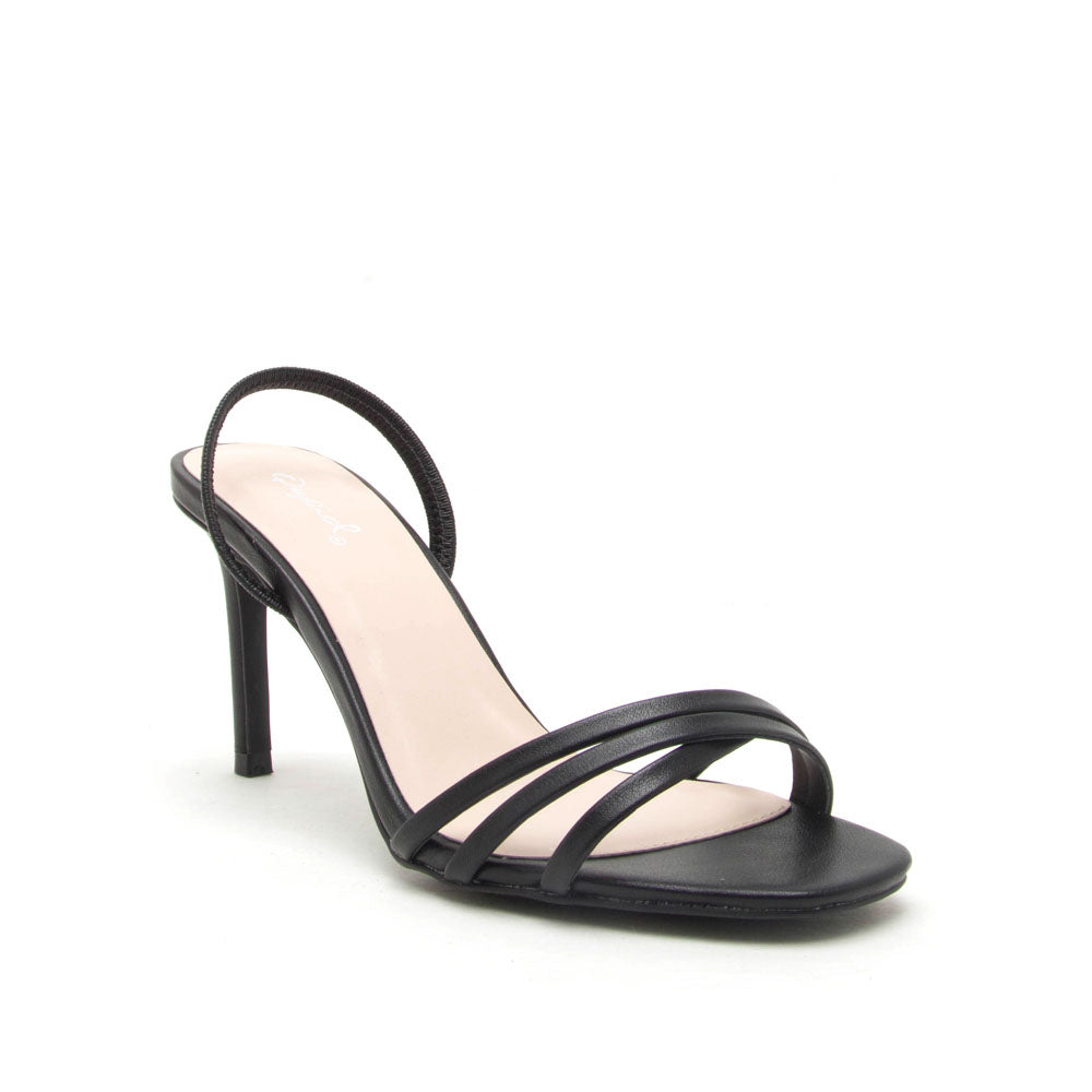 Backfire-07 Black Multi Strap Slingback Sandals