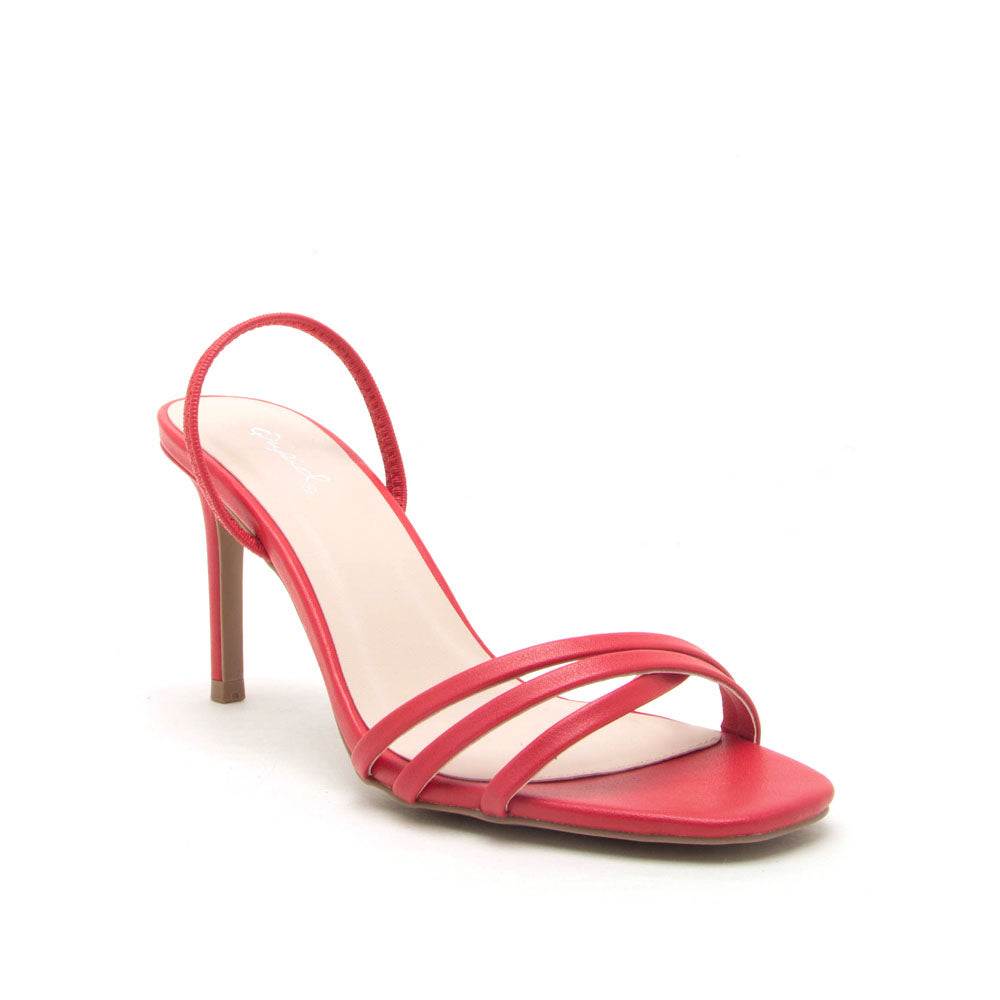 Backfire-07 Red Multi Strap Slingback Sandals