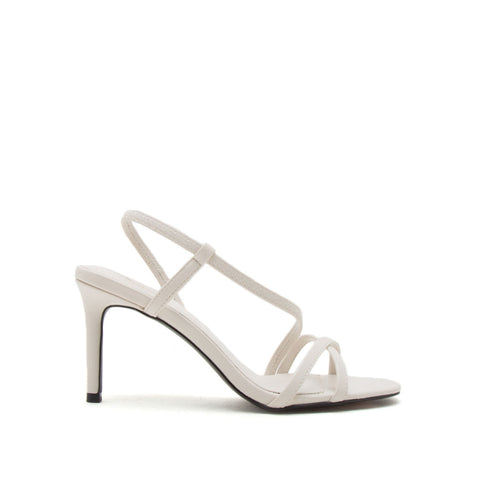 Backfire-25 Off White Strappy Sandals