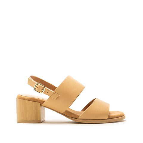 Barden-10AE Tan Double Band Slingback Sandals
