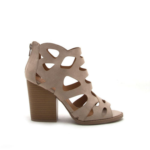 Barnes-169A Light Taupe Cut Out Sandal
