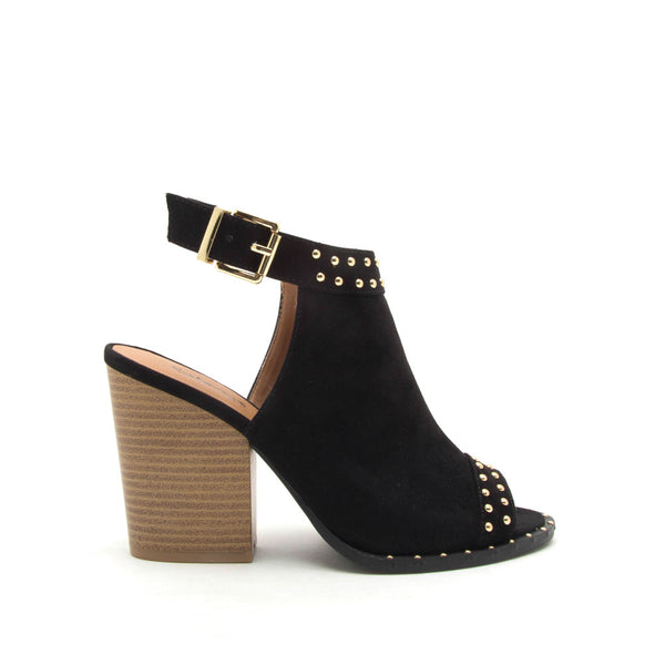 Barnes-230CX Black Studded Shoetie Sandal