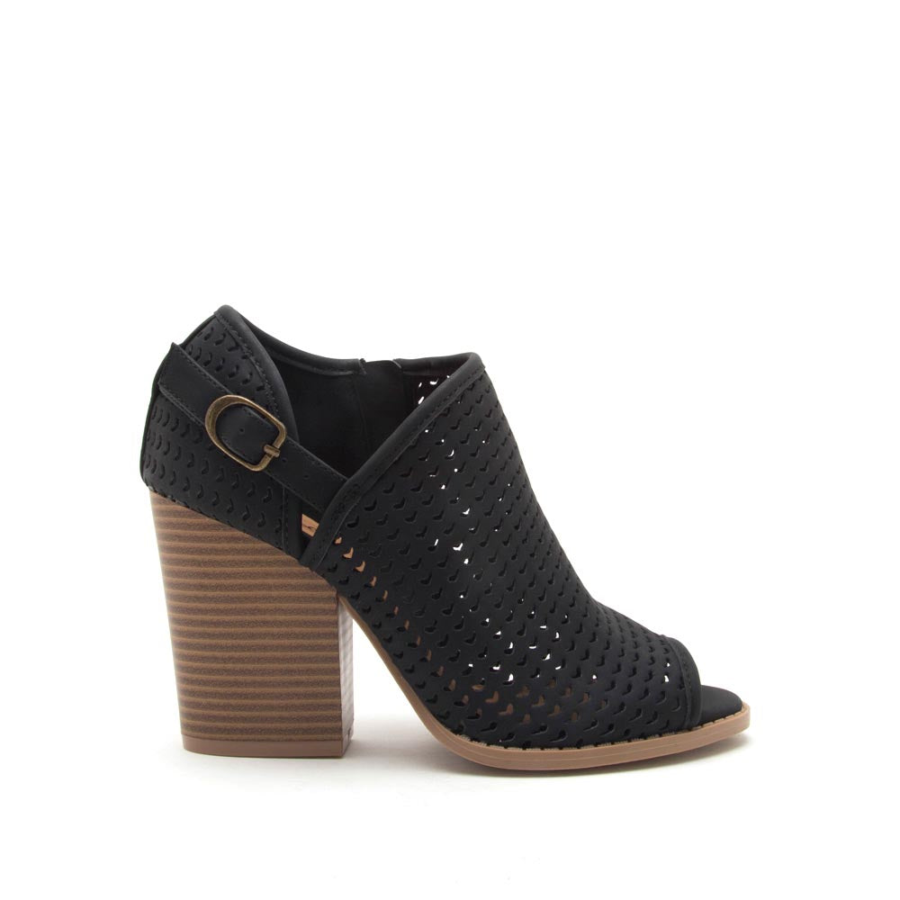 Barnes-260AX Black Perforated Bootie