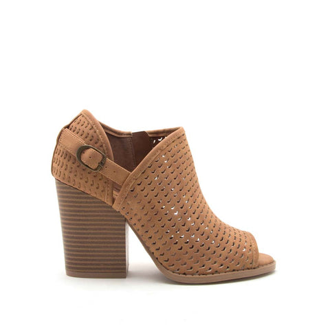 Barnes-260AX Camel Perforated Bootie