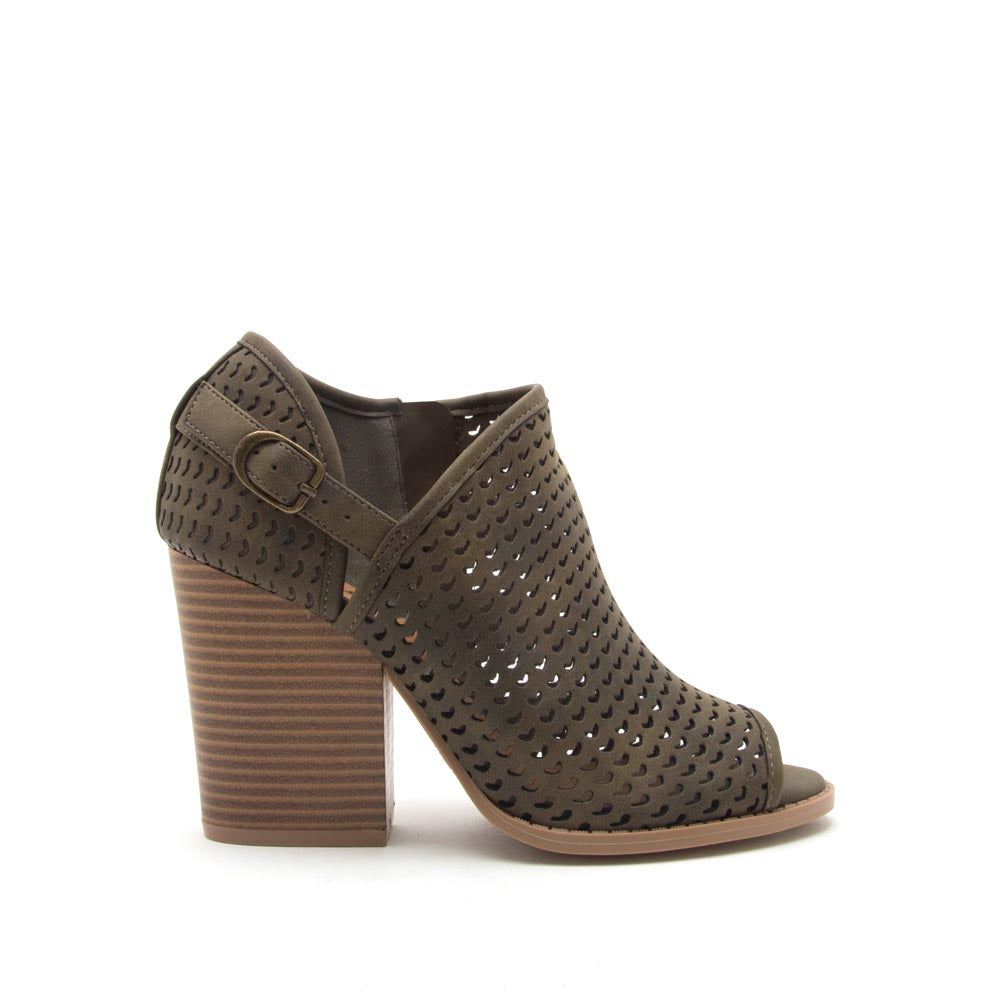 Barnes-260AX Khaki Perforated Bootie