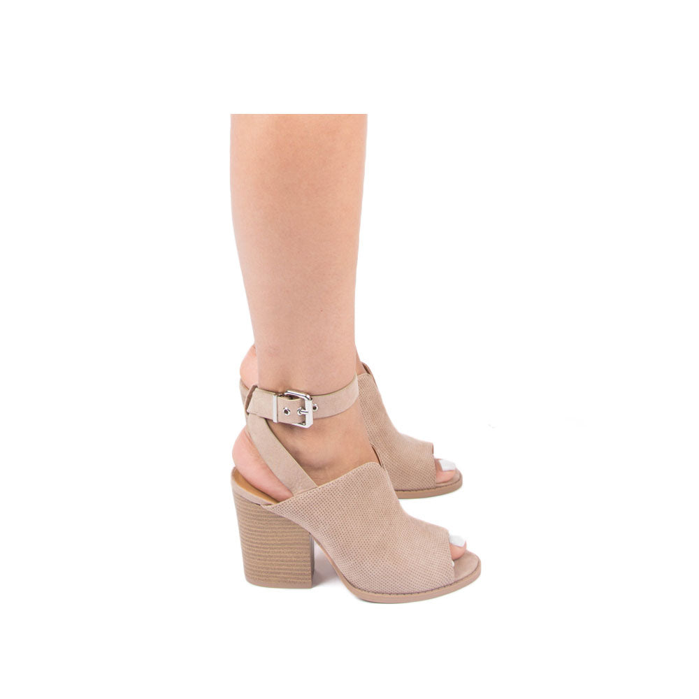 Barnes-262A Taupe Ankle Strap Sandals