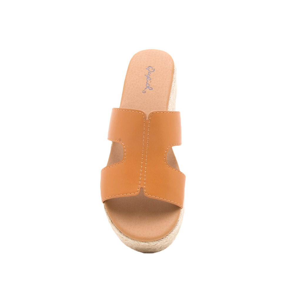 Beachie-02X Cognac Single Band Slides