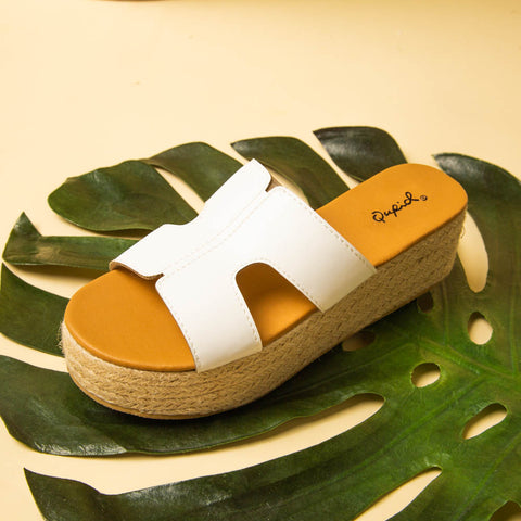 Beachie-02 White One Band Wedges
