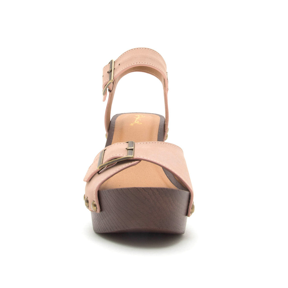 Beekler-20 Blush One Band Ankle Strap Sandal
