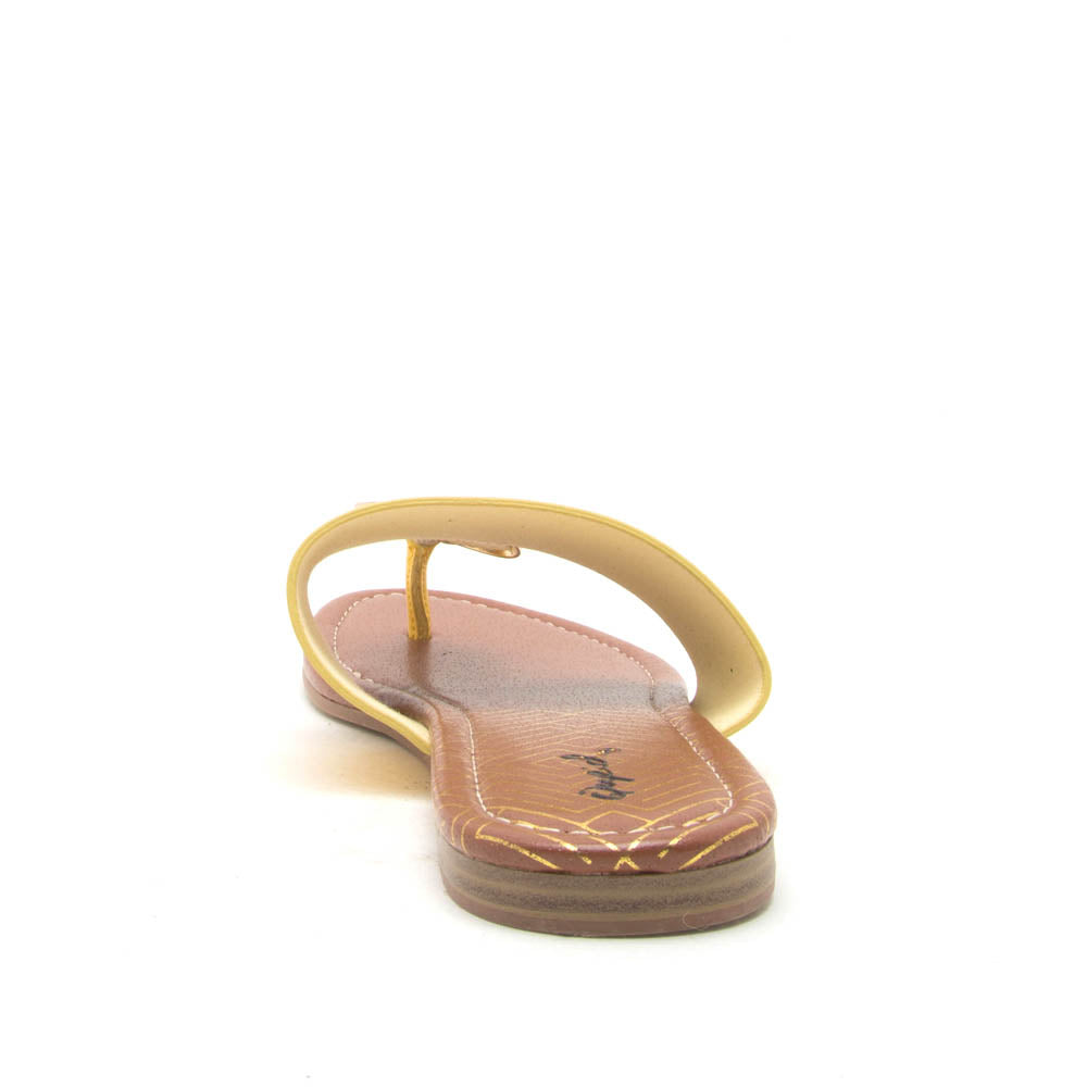 Bellini-02 Yellow Ornament Thong Sandals