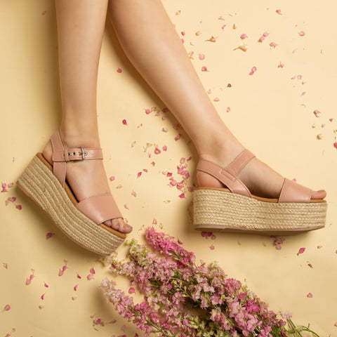 Bigbang-01A Blush One Band Ankle Strap Sandals
