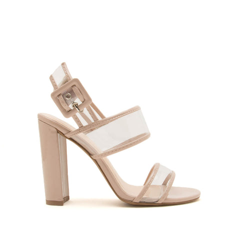 Bixby-25 Nude Double Band Ankle Strap Sandals