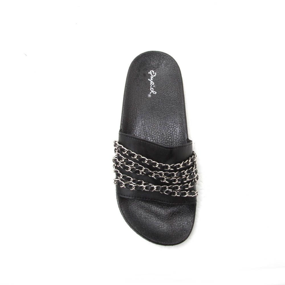 BOOBOO-15 Black Multi Chain Slide