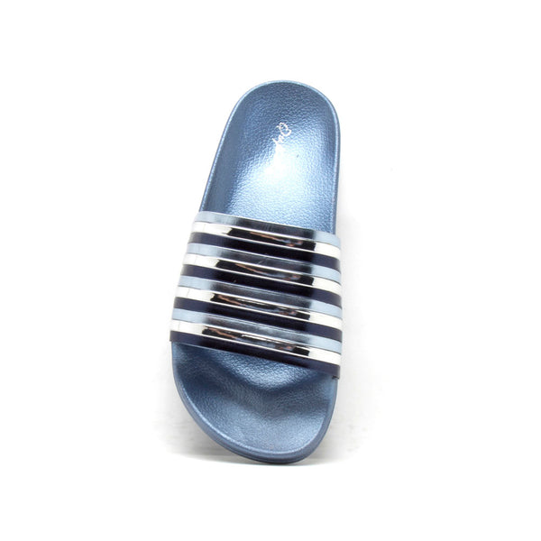 Booboo-89A Blue Metallic Stripe Sandal