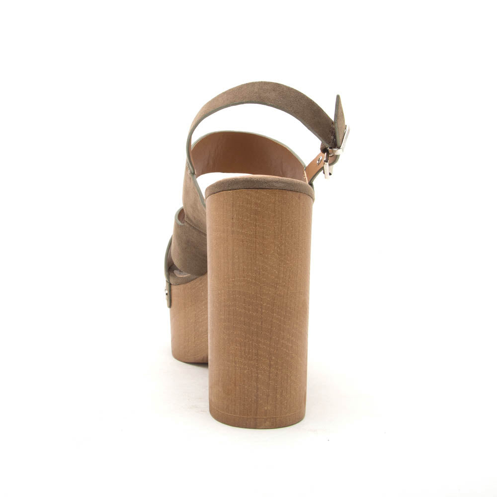 Boost-06 Khaki Open Toed Slingback Sandals