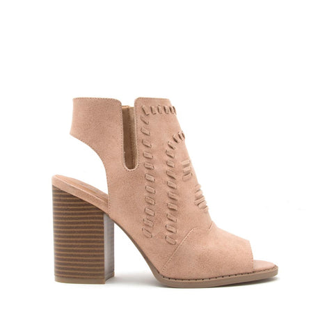 Brammer-10 Tan Peep Toe Sandals