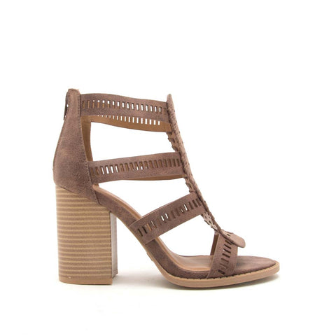 Brammer-56X Nutmeg Strappy Sandals