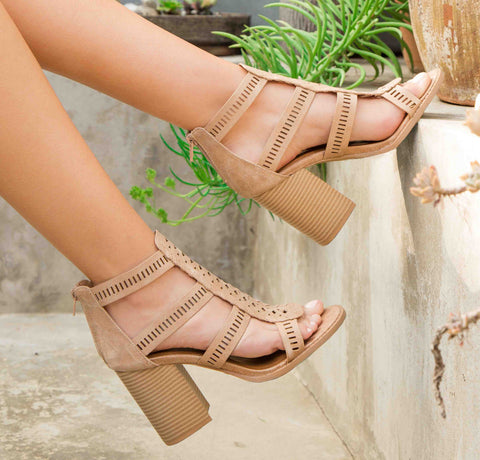 Brammer-56X Tan Strappy Sandals