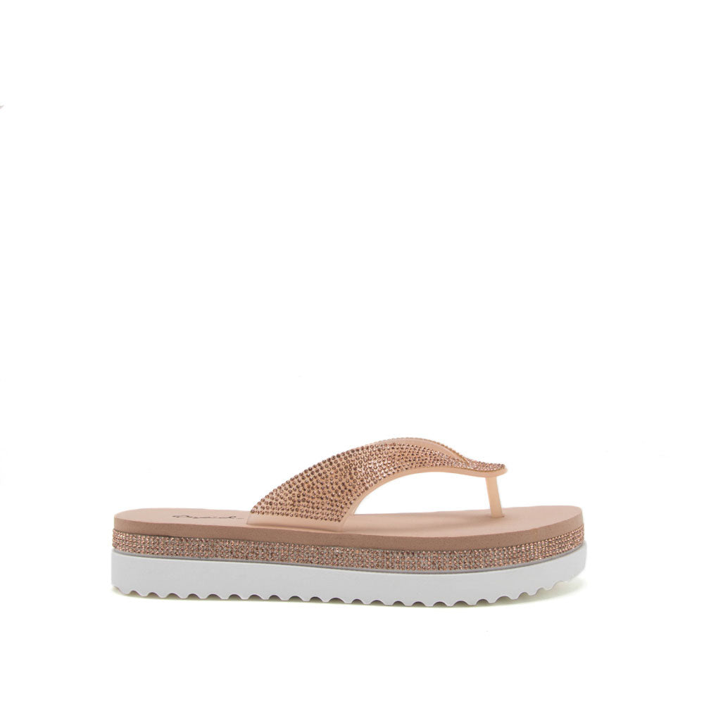Brina-02 Rose Gold Thong Sandal