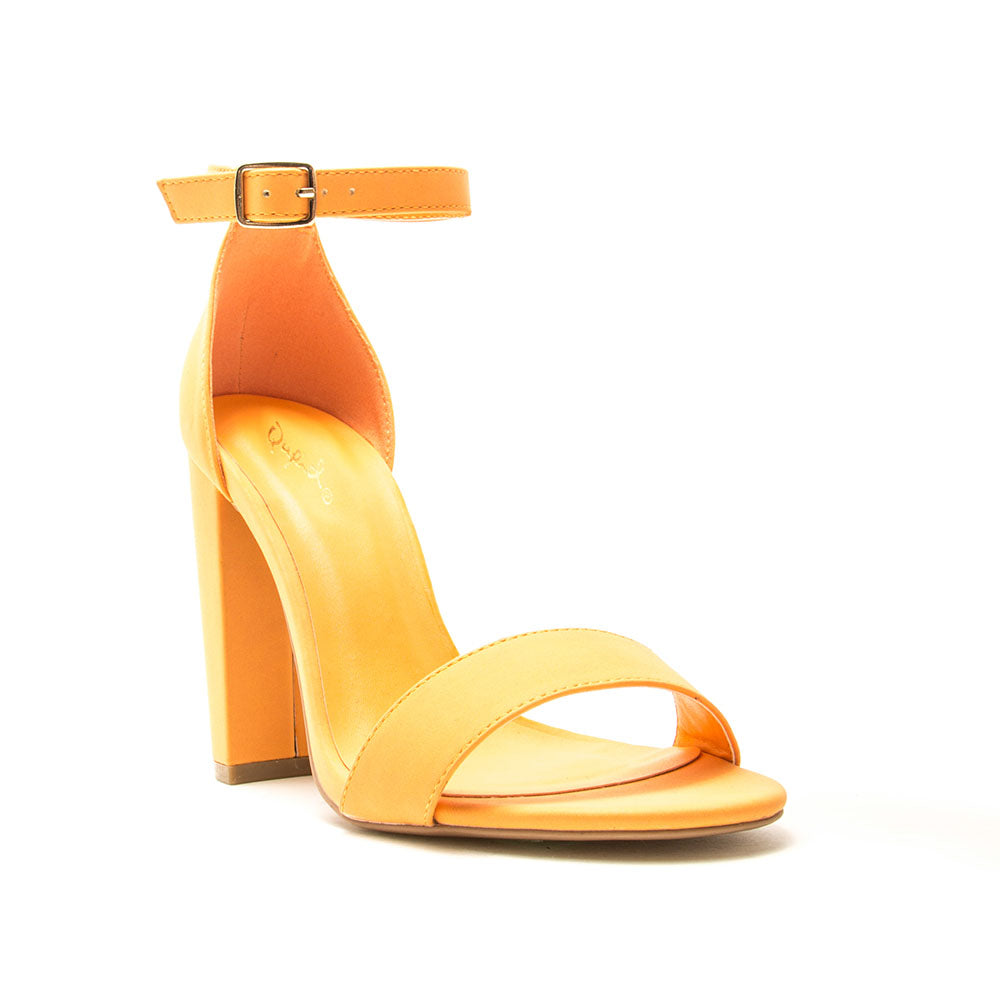 Cashmere-01 Light Orange Block Heel Sandal