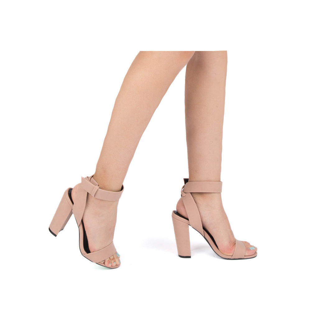 Cashmere-39A Blush One Band Ankle Strap Sandal