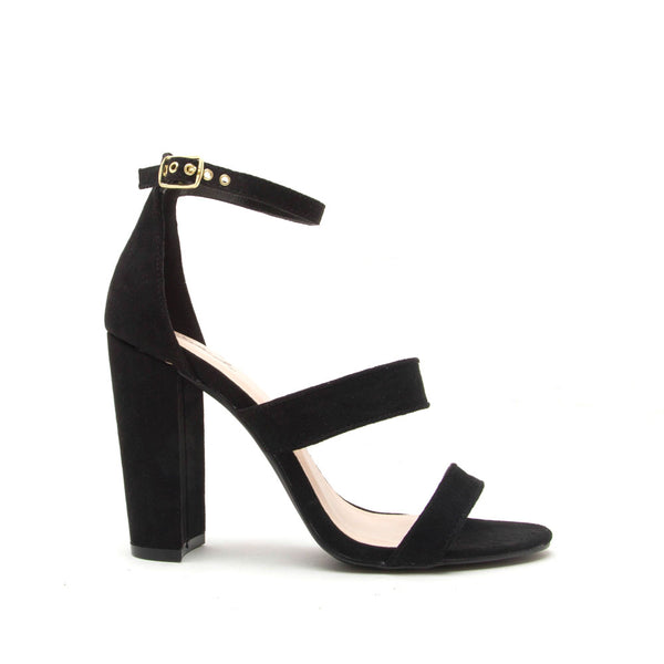 Cashmere-49 Black 3 Band Sandal