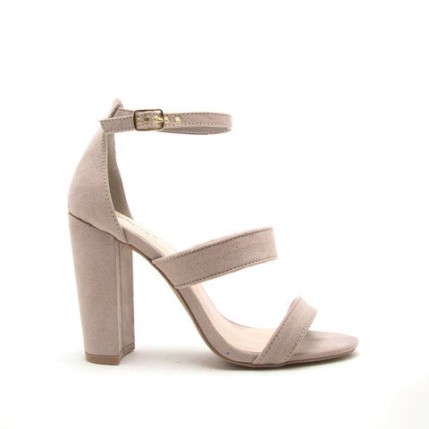Cashmere-49 Taupe 3 Band Sandal