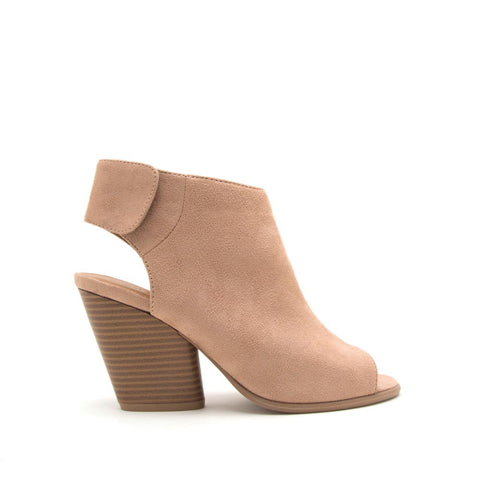Caution-01 Warm Taupe Peep Toe Sandals