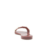 Caviar-01 Rose Taupe Three Band Studded Slide