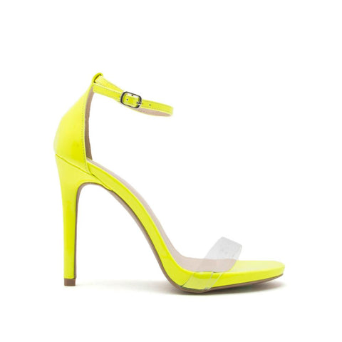Cece-02X Neon Yellow One Band Ankle Strap Sandal