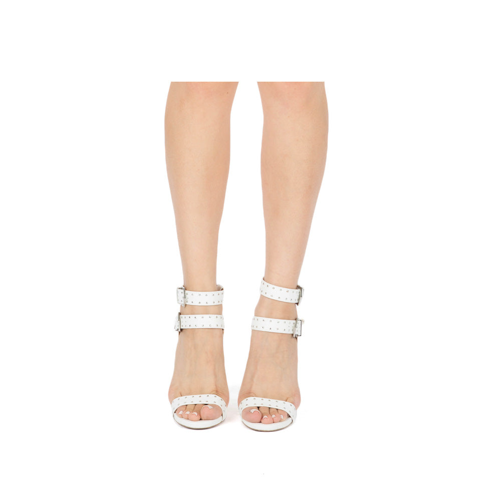 Cece-19 White Strappy Studded Sandal