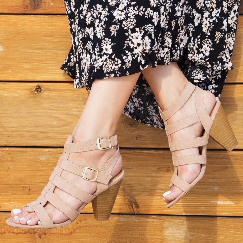 Chamber-22 Warm Taupe Strappy Sandal