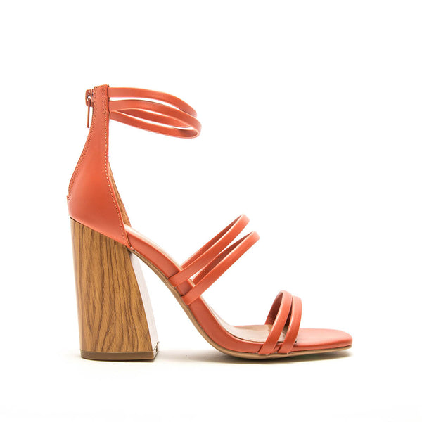 Chandler-13A Brick Strappy Heels