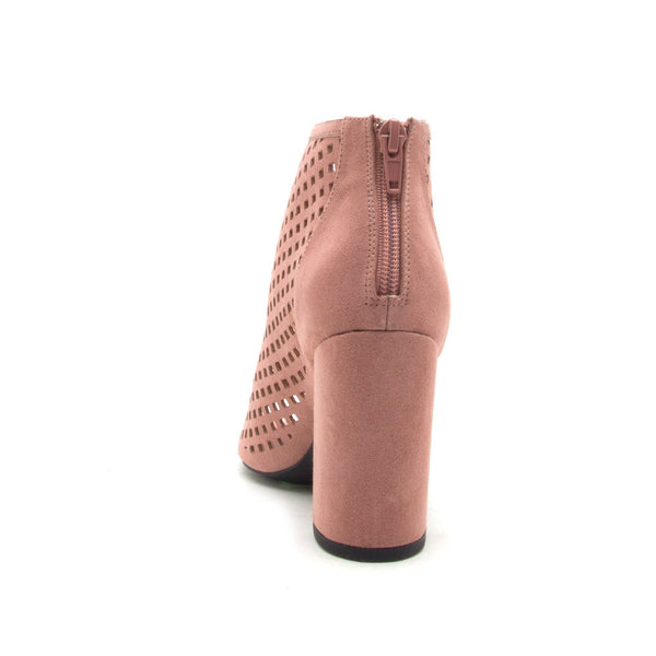 Chester-131 Mauve Cut Out Peep Toe Bootie