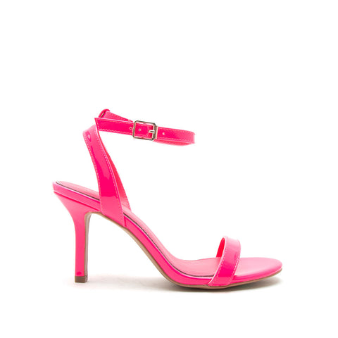 Chi-01X Neon Fuchsia Single Band Ankle Strap Sandals