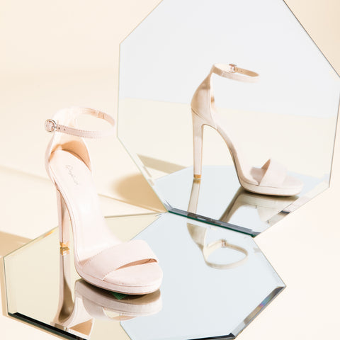 Chicago-01X Nude Single Band Ankle Strap Sandals