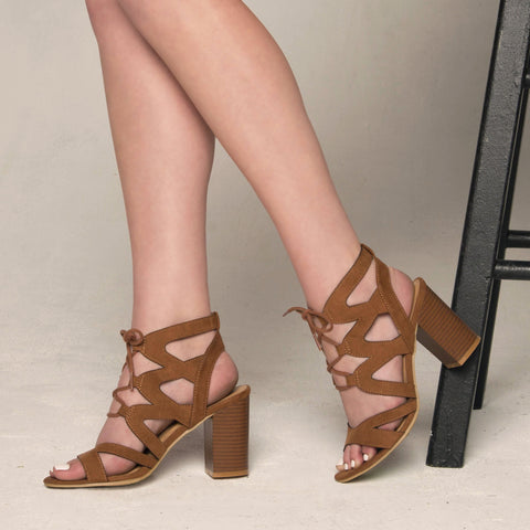 Coly-02 Camel Strappy Sandal