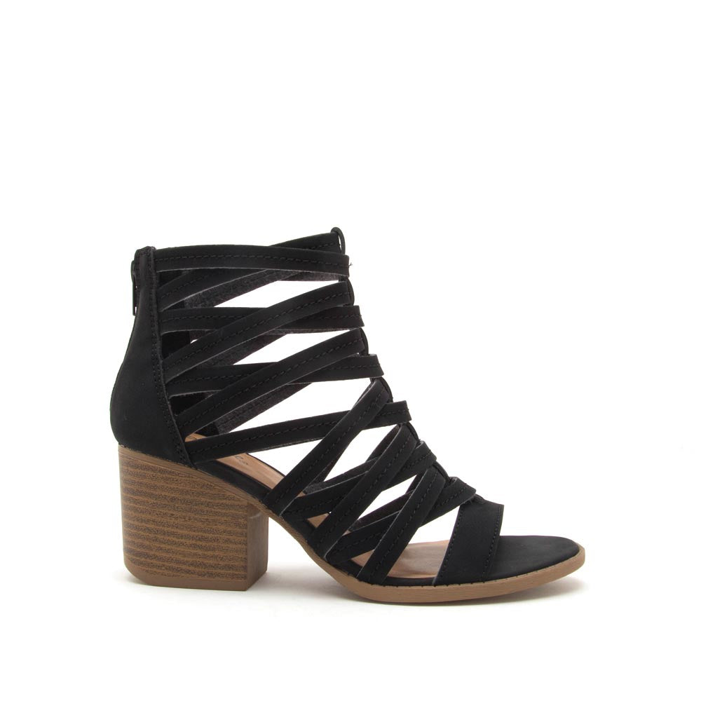 Core-112 Black Strappy Sandal