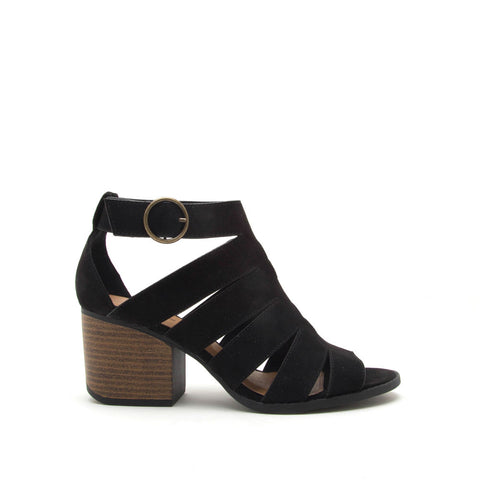 Core-116 Black Strappy Sandals