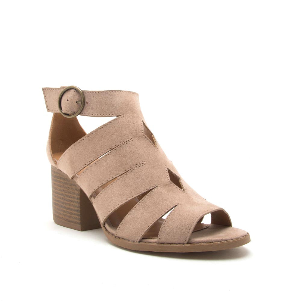 e896e93275a Qupid Women Shoes Core-116 Taupe Strappy Sandals