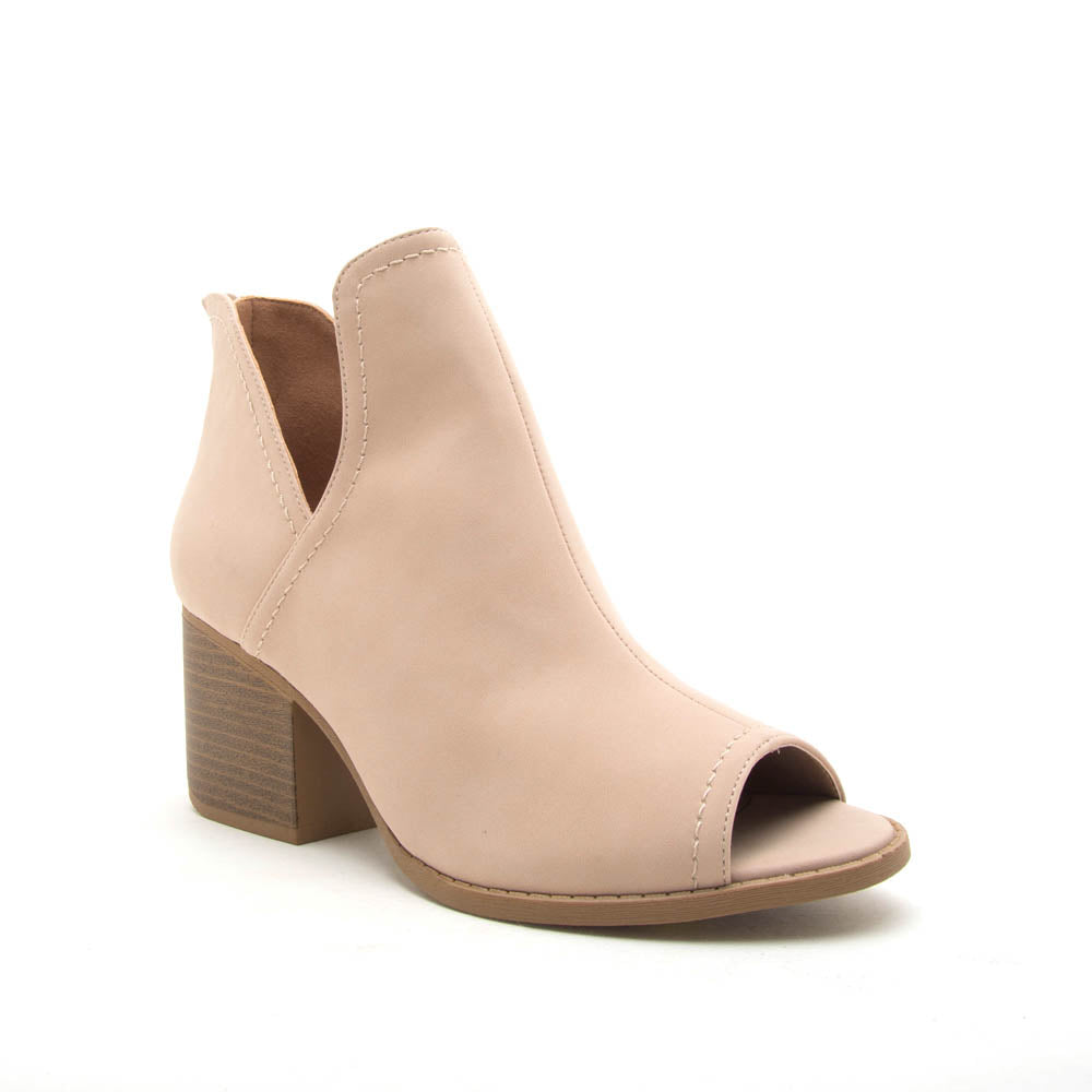Core-12 Warm Taupe Peep Toe Bootie