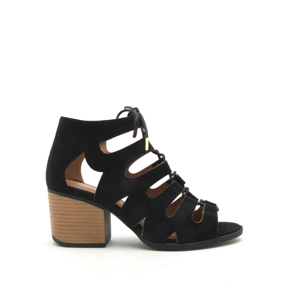 Core-135X Black Lace Up Sandals