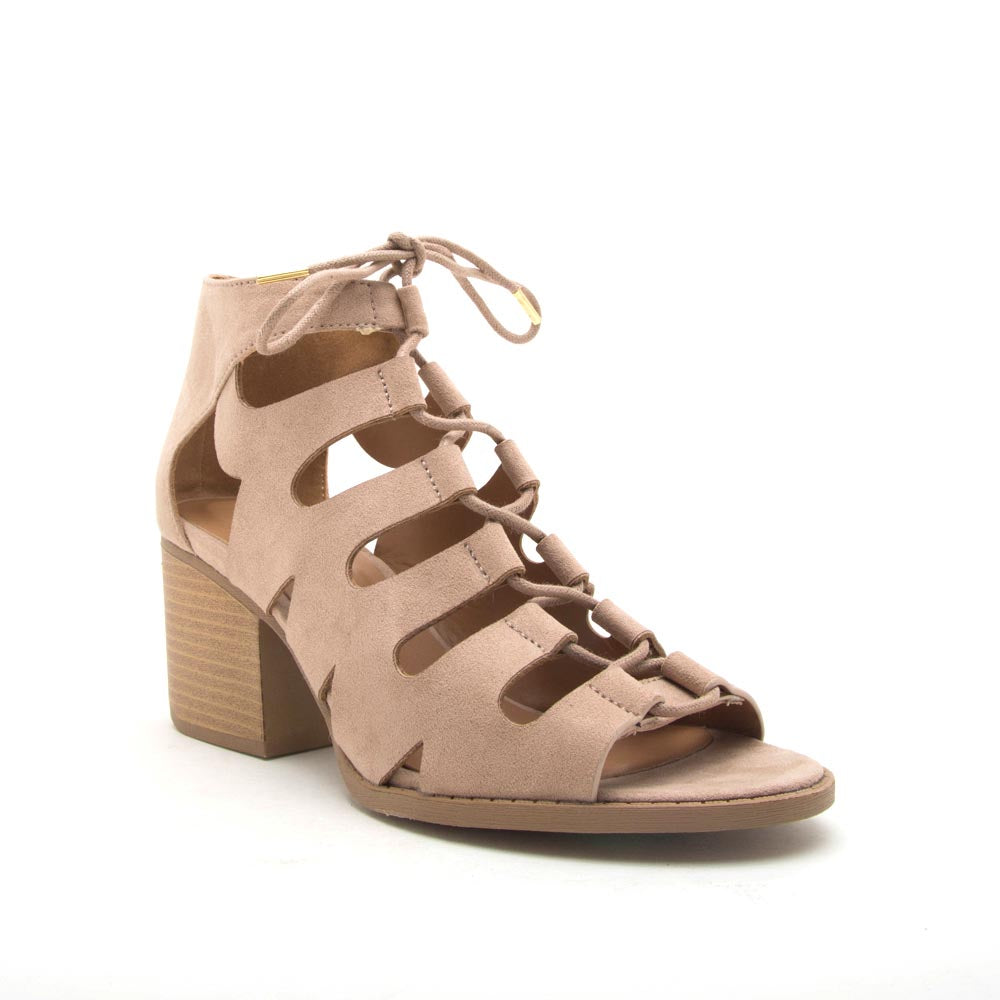 Core-135X Taupe Lace Up Sandals